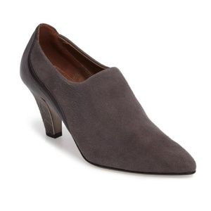 Donald J Pliner Tyra Suede Grey Ankle Booties